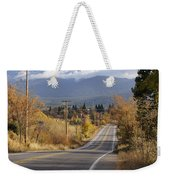 Autumn And Mt Shasta Down The Road Weekender Tote Bag