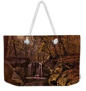 Autumn At The Waterfall In The Ravine In Central Park Weekender Tote Bag