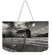 Autumn Barn Black And White Weekender Tote Bag