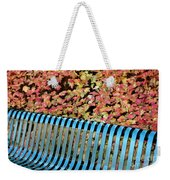 Autumn Blue Bench Weekender Tote Bag