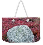 Autumn Blueberry Field Weekender Tote Bag