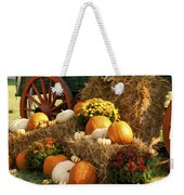 Autumn Bounty Weekender Tote Bag by Kathy Clark