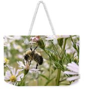 Autumn Bumblebee And Flowers Weekender Tote Bag
