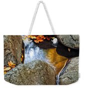 Autumn Colors Reflected In Pool Of Water Weekender Tote Bag