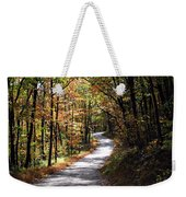 Autumn Country Lane Weekender Tote Bag by David Dehner