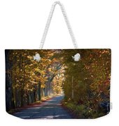 Autumn Country Road - Oil Weekender Tote Bag