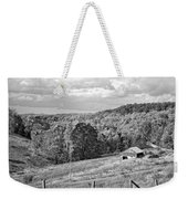 Autumn Farm 2 Monochrome Weekender Tote Bag