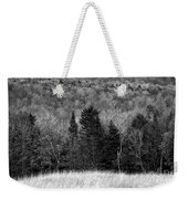 Autumn Field Bw Weekender Tote Bag
