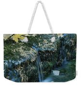 Autumn Foliage Floats Upon The Surface Weekender Tote Bag