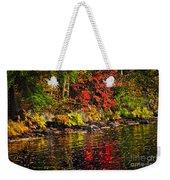 Autumn Forest And River Landscape Weekender Tote Bag