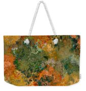 Autumn Forest Tree Tops Abstract Weekender Tote Bag