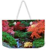 Autumn Garden Waterfall II Weekender Tote Bag