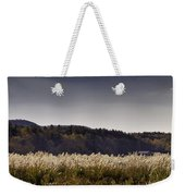 Autumn Grasses - North Carolina Autumn Scene Weekender Tote Bag by Rob Travis