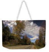 Autumn Highway Weekender Tote Bag