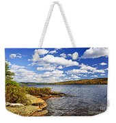 Autumn Lake Shore Weekender Tote Bag