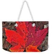 Autumn Leaf Art Iv Weekender Tote Bag