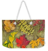 Autumn Leaf Collage Weekender Tote Bag