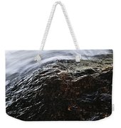 Autumn Leaf On River Rock Weekender Tote Bag by Elena Elisseeva