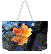 Autumn Leaf On The Water Level Weekender Tote Bag