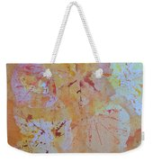 Autumn Leaf Splatter Weekender Tote Bag