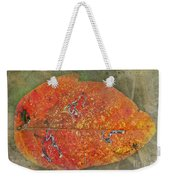 Autumn Leaf With Silver Trails Weekender Tote Bag