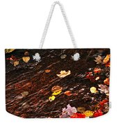 Autumn Leaves In River Weekender Tote Bag