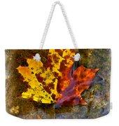 Autumn Maple Leaf In Water Weekender Tote Bag