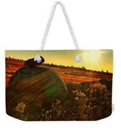 Autumn Morn In The Berry Field Weekender Tote Bag
