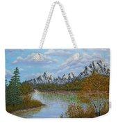 Autumn Mountains Lake Landscape Weekender Tote Bag