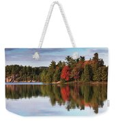 Autumn Nature Lake And Trees Weekender Tote Bag