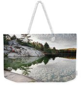 Autumn Nature Lake Rocks And Trees Weekender Tote Bag