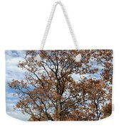 Autumn Oaks White Clouds Weekender Tote Bag