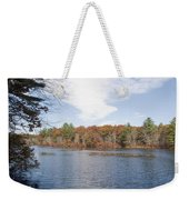 Autumn On Mill Pond Weekender Tote Bag