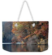 Autumn Pond Reflections Weekender Tote Bag