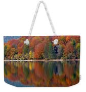 Autumn Reflections On Lake Bohinj In Slovenia Weekender Tote Bag