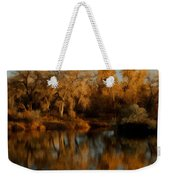 Autumn Reflections Painterly Weekender Tote Bag