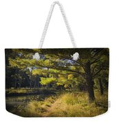 Autumn Scene Of The Little Manistee River In Michigan No. 0882 Weekender Tote Bag