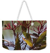 Autumn Snow Berry Bush Weekender Tote Bag