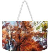 Autumn Street Perspective Weekender Tote Bag