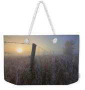 Autumn Sunrise Over Hoar Frost-covered Weekender Tote Bag
