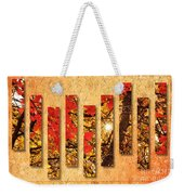 Autumn Sunrise Painterly Abstract Weekender Tote Bag