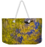 Autumn Tree Reflections With Rocks On The Muskegon River Weekender Tote Bag