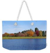 Autumn Trees By The Lake Weekender Tote Bag