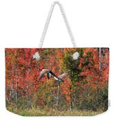 Autumn Vermont Geese And Color Weekender Tote Bag