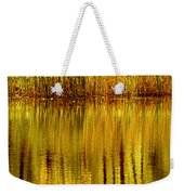 Autumn Water Reflection Abstract II Weekender Tote Bag