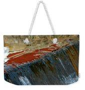 Autumn Waterfall Reflections Weekender Tote Bag