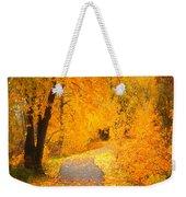 Autumn's Golden Corner Weekender Tote Bag