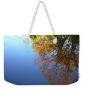 Autumn's Watery Reflection Weekender Tote Bag
