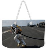 Aviation Boatswain's Mate Carries Weekender Tote Bag