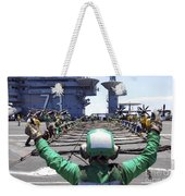 Aviation Boatswain's Mate Signals Weekender Tote Bag